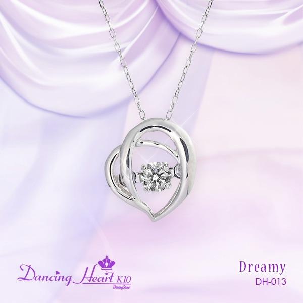 クロスフォーDancing Heart(ダンシングハート) DH-013 【Dreamy】 ダイヤモンドペンダント/ネックレスf00