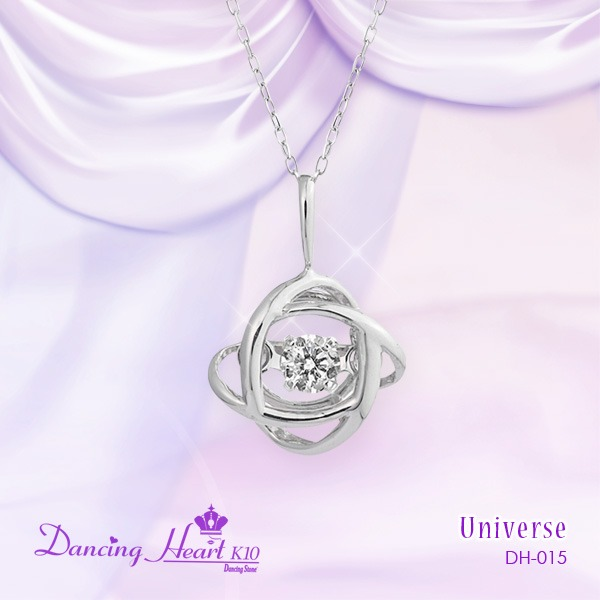 クロスフォーDancing Heart(ダンシングハート) DH-015 【Universe】 ダイヤモンドペンダント/ネックレスf00