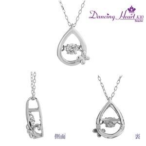 クロスフォーDancing Heart(ダンシングハート) DH-016 【Pure Drop】 ダイヤモンドペンダント/ネックレス h03