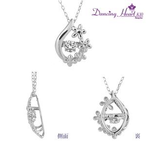 クロスフォーDancing Heart(ダンシングハート) DH-020 【Blossom】 ダイヤモンドペンダント/ネックレス h03
