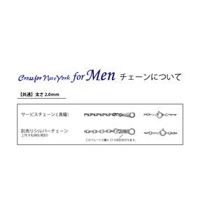 クロスフォーニューヨーク for Men Dancing Stoneシリーズ(ダンシングストーン) 別売りシルバーチェーン f04
