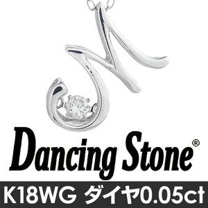ダンシングストーンイニシャル「M」ネックレス