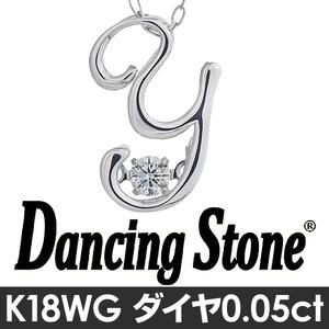 ダンシングストーンイニシャル「Y」ネックレス
