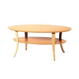 オーバル型リビングテーブル ナチュラル