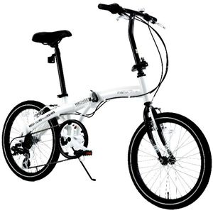 WACHSEN(ヴァクセン) 20インチアルミ折りたたみ自転車6段変速付 Weiβ(ヴァイス) BA-101 - 拡大画像