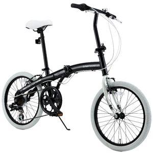 WACHSEN(ヴァクセン) 20インチアルミ折りたたみ自転車6段変速付 Schwarz(シュヴァルツ) BA-102 - 拡大画像