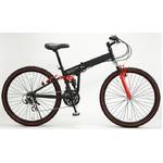 WACHSEN(ヴァクセン) 折り畳み自転車 BM200-BYL 26インチ 18段変速 ブラック/レッド (マウンテンバイク)【送料無料】