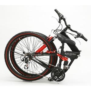 WACHSEN(ヴァクセン) 折り畳み自転車 BM200-BYL 26インチ 18段変速 ブラック/レッド (マウンテンバイク)画像2