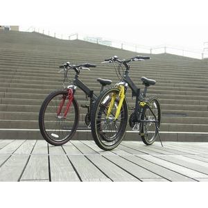 WACHSEN(ヴァクセン) 折り畳み自転車 BM200-BYL 26インチ 18段変速 ブラック/レッド (マウンテンバイク)画像3