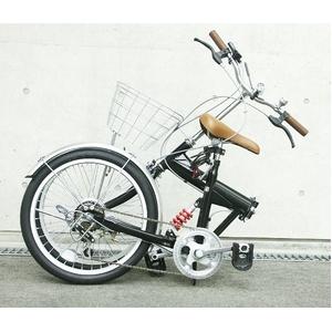 HEAVEN's(ヘブンズ) 20インチ折り畳み自転車 BF-K206 シマノ6段変速モデル ブラック