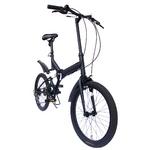 価格¥14,800(税込¥15,540)   20インチ折畳自転車 ツヤ消しカラー グローイングフラット リミテッド