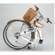 WACHSEN(ヴァクセン) 折り畳み自転車 BC626-WB 26インチ シマノ6段変速付 ホワイト/ブラウン (シティサイクル) - 縮小画像2