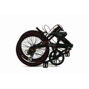 WACHSEN(ヴァクセン) アルミ折り畳み自転車 BA-100 20インチ ブラック&レッド