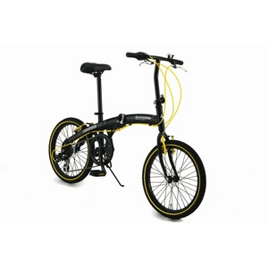 WACHSEN(ヴァクセン) アルミ折り畳み自転車 BA-100 20インチ ブラック&イエロー - 拡大画像