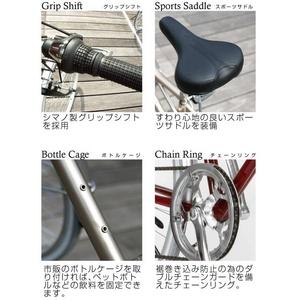 PRIMARY(プライマリー) 6段変速 クロスバイク BGC-700-RD レッド画像6