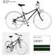 PRIMARY(プライマリー) 6段変速 クロスバイク BGC-700-GR グリーン+折りたたみバスケット+ワイヤーロック+LEDライト 写真1