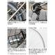 PRIMARY(プライマリー) 6段変速 クロスバイク BGC-700-GR グリーン+折りたたみバスケット+ワイヤーロック+LEDライト 写真5