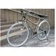 PRIMARY(プライマリー) 6段変速 クロスバイク BGC-700-CG シャンパンゴールド+折りたたみバスケット+ワイヤーロック+LEDライト 写真3