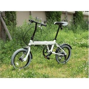 WACHSEN(ヴァクセン) 16インチアルミ折たたみ自転車 7段変速付き BA-160 fran 自転車用アクセサリー4種セット