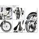 WACHSEN(ヴァクセン) 16インチアルミ折たたみ自転車 7段変速付き BA-160 fran 自転車用アクセサリー4種セット 写真6