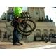 WACHSEN(ヴァクセン) アルミ折り畳み自転車 20インチ BA-100 ブラック&イエロー 自転車用アクセサリ4種セット付き - 縮小画像4