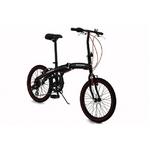 WACHSEN(ヴァクセン) アルミ折り畳み自転車 20インチ BA-100 ブラック&レッド 自転車用アクセサリー4種セット【送料無料】