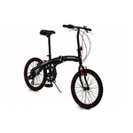 WACHSEN(ヴァクセン) アルミ折り畳み自転車 20インチ BA-100 ブラック&レッド 自転車用アクセサリー4種セット