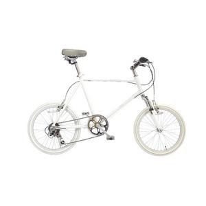 WACHSEN(ヴァクセン) 自転車 Lang(ラング) 20インチ サス付きアルミミニベロ 6段変速 ホワイト
