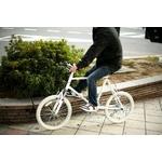 WACHSEN(ヴァクセン) 自転車 Lang(ラング) 20インチ サス付きアルミミベロ 6段変速 ホワイト