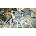 WACHSEN(ヴァクセン) 自転車 Lang(ラング) 20インチ サス付きアルミミベロ 6段変速 ブルーグレー