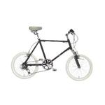 WACHSEN(ヴァクセン) 自転車 Lang(ラング) 20インチ サス付きアルミミベロ 6段変速 ブラック+ダイナモライト+ワイヤーロック