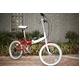 HEAVEN's(ヘブンズ) 20インチ カラフル折り畳み自転車 BGC-106-RD 6段変速 グロスレッド - 縮小画像5