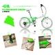 HEAVEN's(ヘブンズ) 20インチ カラフル折り畳み自転車 BGC-106-GR 6段変速 グリーン - 縮小画像1