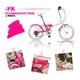 20インチ カラフル折りたたみ自転車 6段変速 HEAVEN's ピンク 写真1