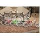 20インチ カラフル折りたたみ自転車 6段変速 HEAVEN's ピンク 写真6