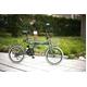 20インチカラフル折りたたみ自転車  カギ/カゴ/ライト付 6段変速 HEAVEN's グレー 写真5