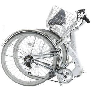 WACHSEN(ヴァクセン) 折り畳み自転車 Wolke(ヴォルケ) 26インチ 6段変速 サスペンション ホワイト(シティサイクル)BC-S626