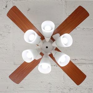 シーリングファン ウィンダブル 6灯 ホワイト