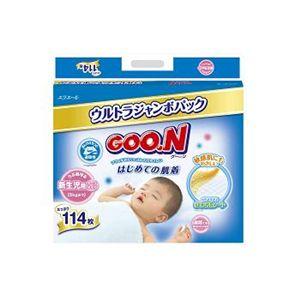 Goo.n(グーン) おむつ はじめての肌着 新生児 114枚 【2セット】 - 拡大画像
