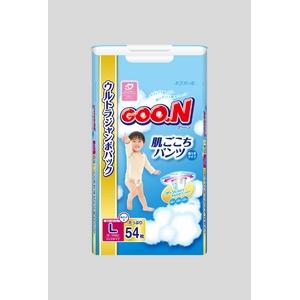 Goo.n(グーン) おむつ 肌ごこちパンツ Lサイズ 54枚 男の子 【3セット】 - 拡大画像