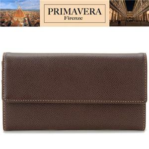 PRIMAVERA(プリマヴェーラ) 牛革財布 レディース長財布 ブラウン