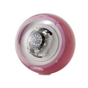 カラフルワインダー 1本用 時計巻上げ機 ピンク - 拡大画像