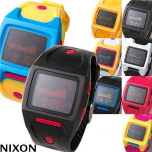 NIXON(ニクソン) LODOWN ユニセックスウォッチ 498-389/イエロー×ピンク・レディース 通販 販売