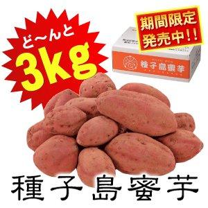夢百笑 種子島蜜芋 3Kg 【安納芋(あんのういも)】 - 拡大画像