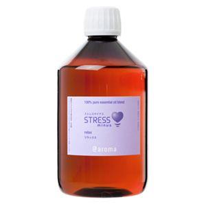 アットアロマ 100%ピュアエッセンシャルオイル STRESS minus リラックス 450ml