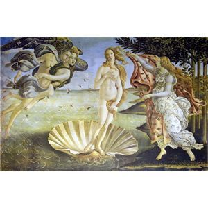 世界の名画シリーズ、最高級プリハード複製画 サンドロ・ボッティチェルリ作 「ヴィーナスの誕生」