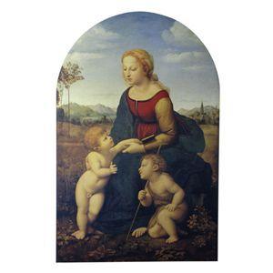 世界の名画シリーズ、最高級プリハード複製画 ラファエロ・サンティ作 「美しき女庭師の聖母」 - 拡大画像