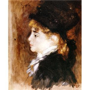世界の名画シリーズ、最高級プリハード複製画 ピエール・オーギュスト・ルノアール作 「モデルの肖像」