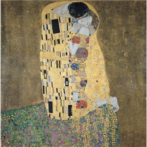 世界の名画シリーズ、最高級プリハード複製画 グスタフ・クリムト作 「接吻」