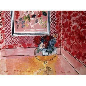 世界の名画シリーズ、最高級プリハード複製画 ラウル・デュフィ作 「30歳、またはばら色の人生」 - 拡大画像